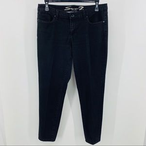 Seven7 Luxe Black Skinny Jeans with 5 Pockets